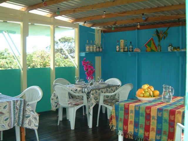 the small restaurants offers caribbean and european cuisine